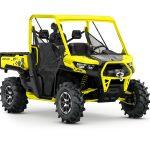 2019 Defender X mr HD10 Carbon Black _ Sunburst Yellow_3-4 front