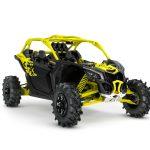 2019 Maverick X3 X mr TURBO R Carbon Black _ Sunburst Yellow_3-4 front