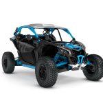 2019 Maverick X3 X rc TURBO R Carbon Black _ Octane Blue_3-4 front